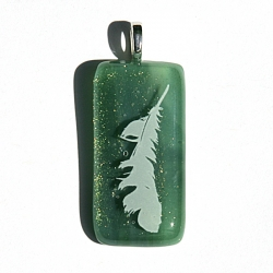 Archangel Raphael - angel feather pendant