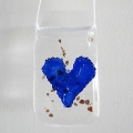 Indigo heart light catcher