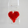 Red heart light catcher