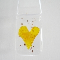 Yellow heart light catcher
