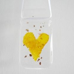 Yellow heart light catcher