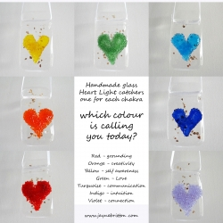 Set of 7 heart light catchers