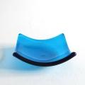 Blue glass chakra bowl