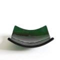 Green glass chakra bowl