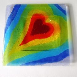 Seven chakras large heartscape platter