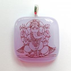 Small Ganesh pendant - violet