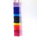 Long rainbow light catcher - 7 chakra colours