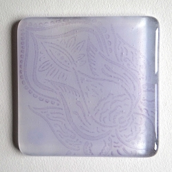 Lotus flower coaster in shades of violet