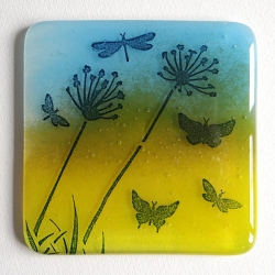 Dragonfly summer meadow coaster