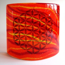 Flower of Life Sconce - large light and candle screen