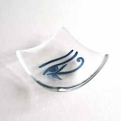 Eye of Horus bowl in clear glass