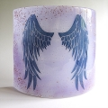 Angel Wings Sconce - large light and candle screen - violet