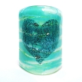 Bubbly Heart Scone - mini light and candle screen - blue green blend