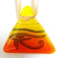 Horus light catcher - orange and yellow blend - Eye of Horus