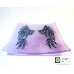 Angel Wings Plate - violet and purple blend