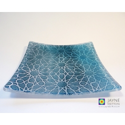 Alhambra Stars altar plate - blue and white