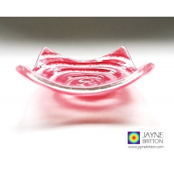 Pink spiral tealight bowl