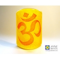 Om Sconce - mini light and candle screen - yellow orange red