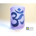 Om Sconce - mini light and candle screen - purple blend