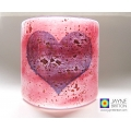 Heart Sconce - small light and candle screen - pink and purple