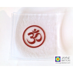 Om symbol fused glass plate