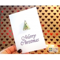Fused glass greeting card - Christmas Tree