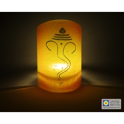 Ganesh Sconce - mini light and candle screen - red, orange, yellow