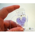 Violet purple heart light catcher