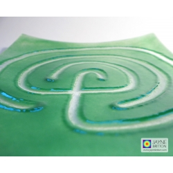 Labyrinth plate - jade green