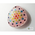 Fused glass greeting card - Mandala pebble - number three