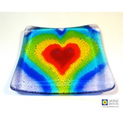 Seven chakras Heartscape plate - option 1