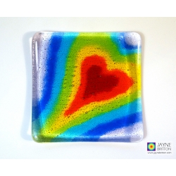 Seven chakras Heartscape plate - option 3