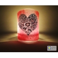 Bubbly Heart Sconce - mini light and candle screen - pink blend