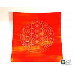 Platinum Flower of Life plate - Fire element