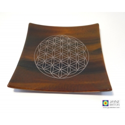 Platinum Flower of Life plate - Earth element