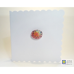 Fused glass greeting card - Mandala pebble - number two