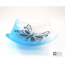 Butterfly bowl in blue and white