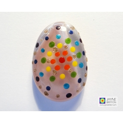 Fused glass greeting card - Mandala pebble - number one