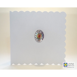 Fused glass greeting card - Mandala pebble - number five