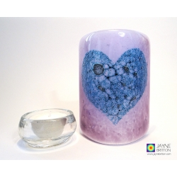 Bubbly Heart Sconce - mini light and candle screen - violet blend