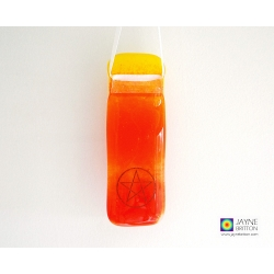 Pentacle light catcher - orange and yellow blend