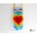 Fused glass 7 chakra heartscape light catcher