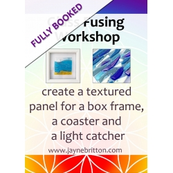 26th May 2019: Make a textured panel, coaster and light catcher