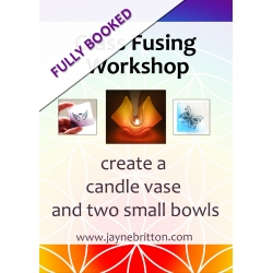 Glass fusing workshop - make a candle vase and two small bowls