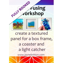 Glass fusing workshop - make a textured panel box frame, coaster and light catcher
