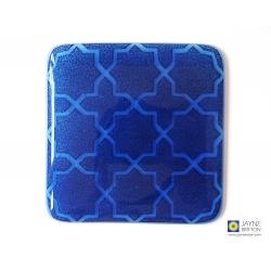 Breath of the Compassionate coaster - deep indigo blue on Egyptian blue