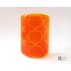 Breath of the Compassionate coaster - deep blue on yellow orange blend