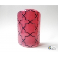 Breath of the Compassionate - sacred geometry pattern sconce - pink and indigo blue