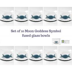 Triple Moon Goddess Bowl - pack of ten