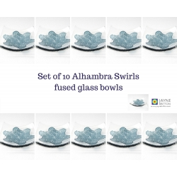 Alhambra swirls - pack of ten trinket dishes